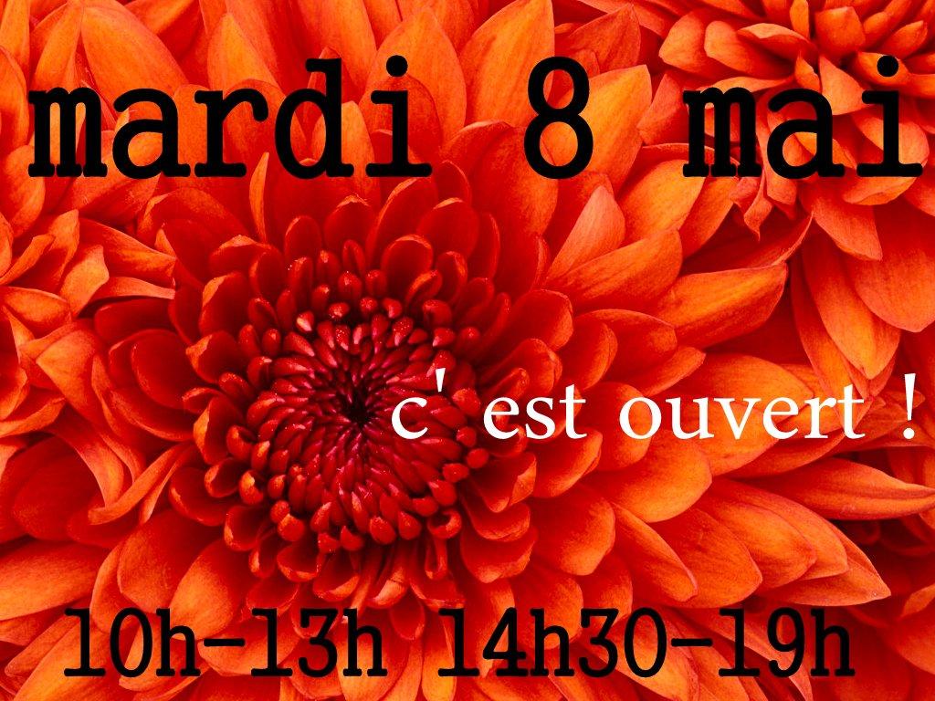 8 MAI : ouverture exceptionnelle ! dans BIJOUX Chrysanthemum